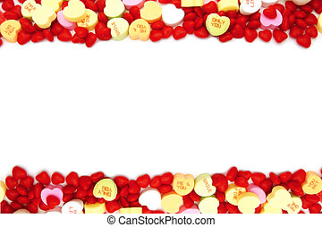 Valentines Day candy frame