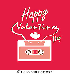 Valentines day card and audio tapes
