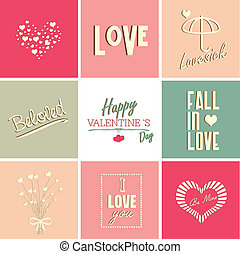 Valentines day card and typography