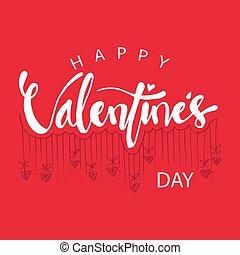 Valentine's day card design. February 14.