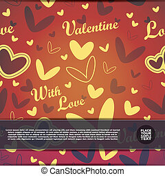 Valentine`s day card - vector illustration
