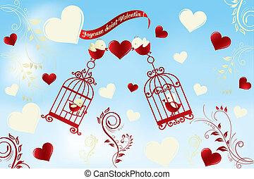 Valentine's Day card in French - Joyeuse Saint-Valentin - ...