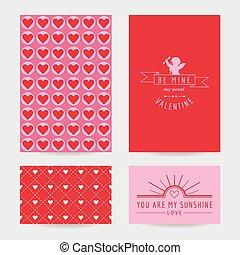 Valentine's Day Card Set  - in vector