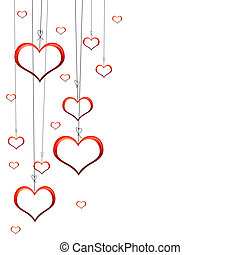 Valentines Day Card - Valenties Day Card with red hearts on ...