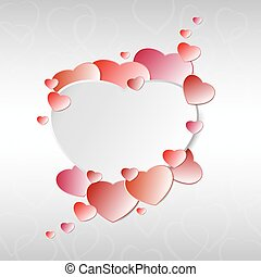 Valentine's day. Love abstract background with heart. Vector illustration
