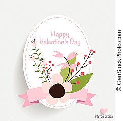 Valentine`s Day card. Vector illustration.