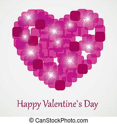 Valentine`s Day card, vector illustration