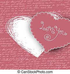 Valentines day card, vector illustr