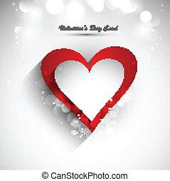 Valentine's day card vector white background