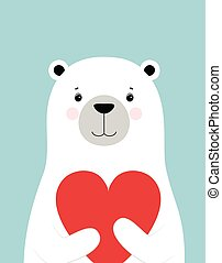 Valentines Day card with bear