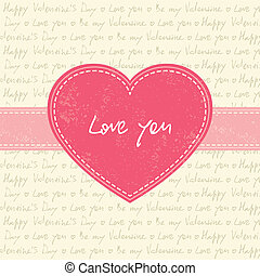 Valentine's day card with heart