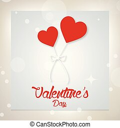 Valentine's day card with light background