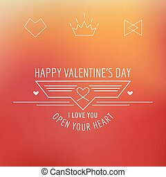 Valentine's Day Card - with Love Quote - in vector
