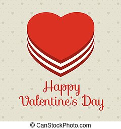 Valentine's day card with pattern background