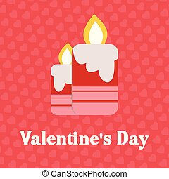 Valentine's day card with pattern pink background