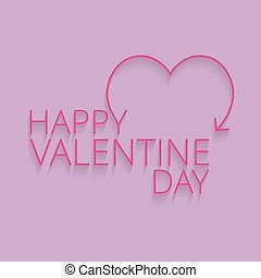 Valentine's day card with pink background