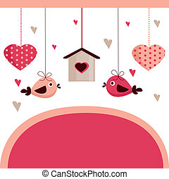 Valentine\'s day card with place for your text, illustration...