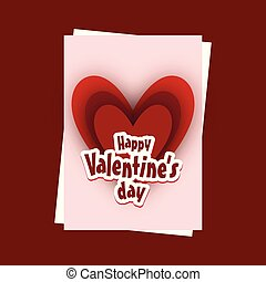 Valentine's day card with red background