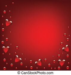 Valentines day card with transparent hearted