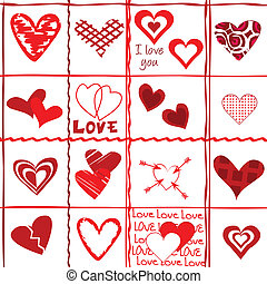 Valentine's Day card, wrapping paper
