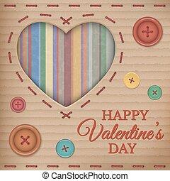 Valentines Day cardboard card