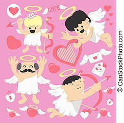 Valentines Day cartoon cupid