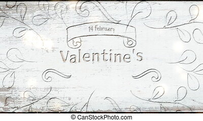 Valentines Day celebration - Animation of the words 14 ...