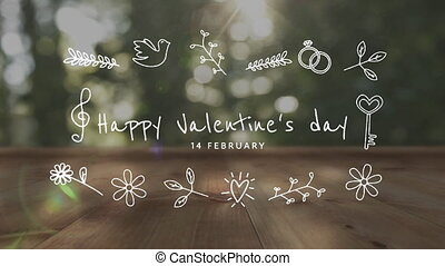 Valentines Day celebration - Animation of the words Happy ...