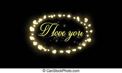 Valentines Day celebration - Animation of the words I Love ...