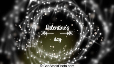 Valentines Day celebration - Animation of the words ...
