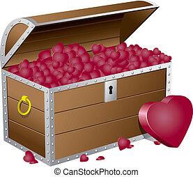 Valentine's day chest wiht hearts