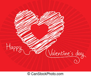valentines day over red background vector illustration