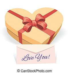 Valentine's day concept illustration with gift box