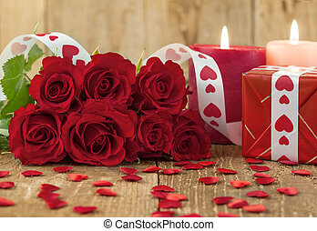 Valentines Day concept with red roses