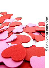 Valentines Day confetti border - Textured Valentines Day...