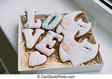 Valentine's Day Cookies in box