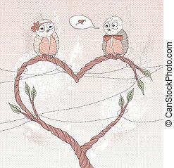 Valentine's day cute card.