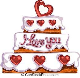 Valentine`s day delicious cake