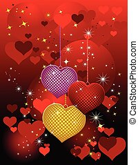 Valentines Day design red. Vector