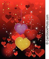 Valentines Day design red. Vector