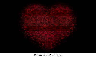 Valentine's day digital heart animation
