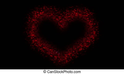 Valentine's day digital heart