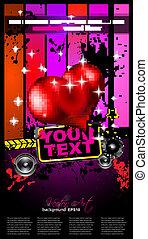 Valentine's Day Disco Flyer