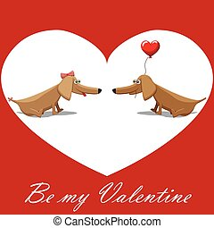 Valentine's Day, dog with balloons