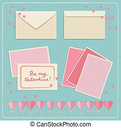 Valentines Day Envelopes Set