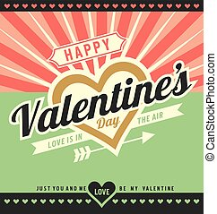 Valentines Day - Creative greeting card template for...