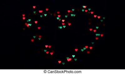 Valentines day, flashing hearts, background