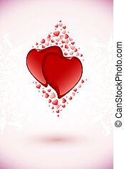 Valentine's Day Floral Background