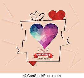 Valentines day gift background retr