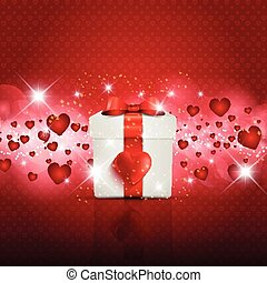 Valentine's Day gift boxbackground
